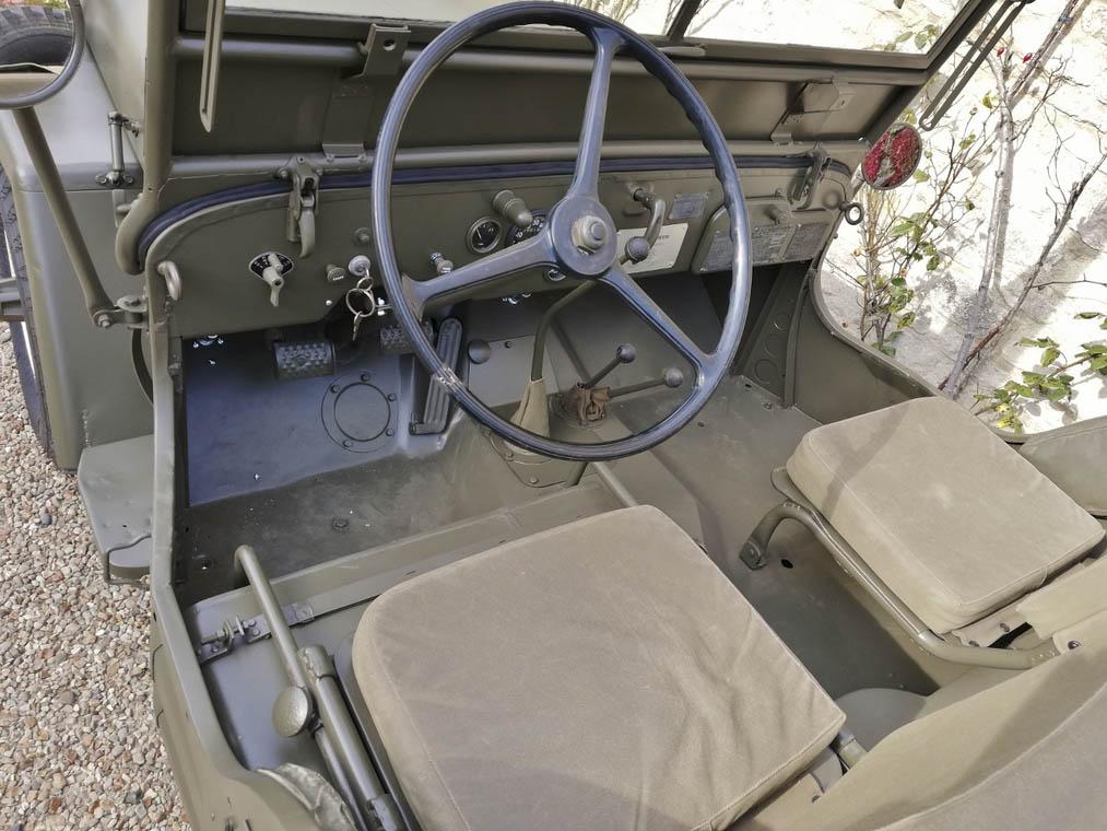 Steve McQueen's 1945 Willys MB interior