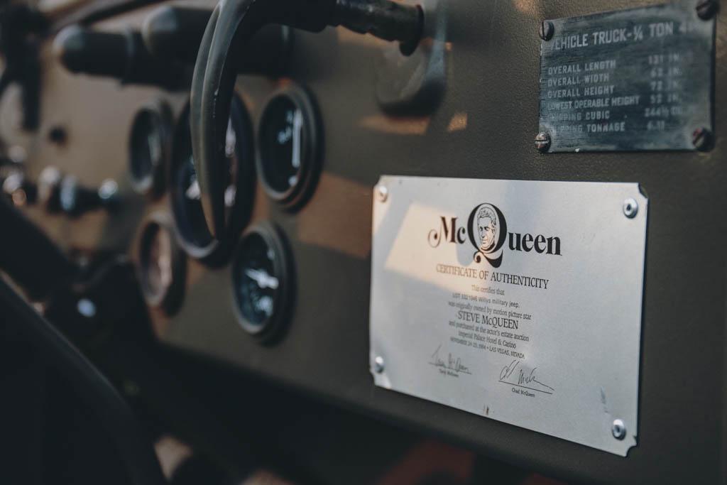 Steve McQueen certificate of authenticity