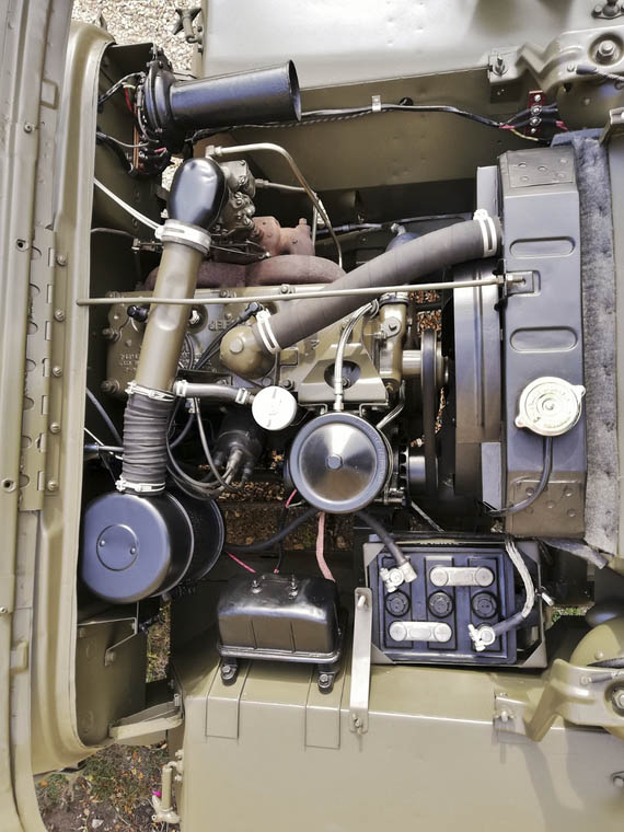 Steve McQueen's 1945 Willys MB engine