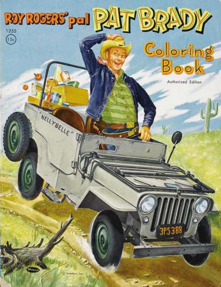 1950s Pat Brady and Nellybelle coloring book