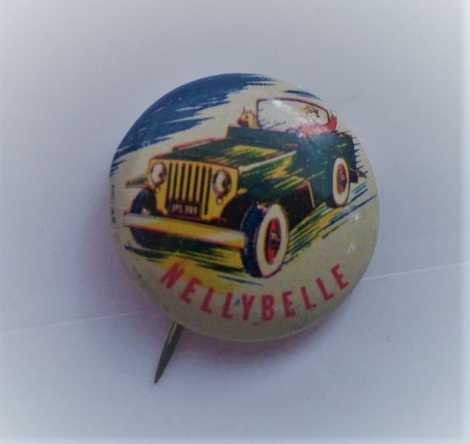 Nellybelle pin given away in boxes of Post Cereal in 1953