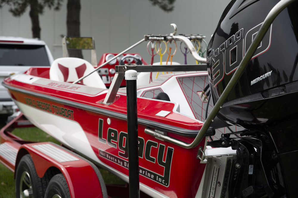 Guinness World Record waterski pyramid legacy boat