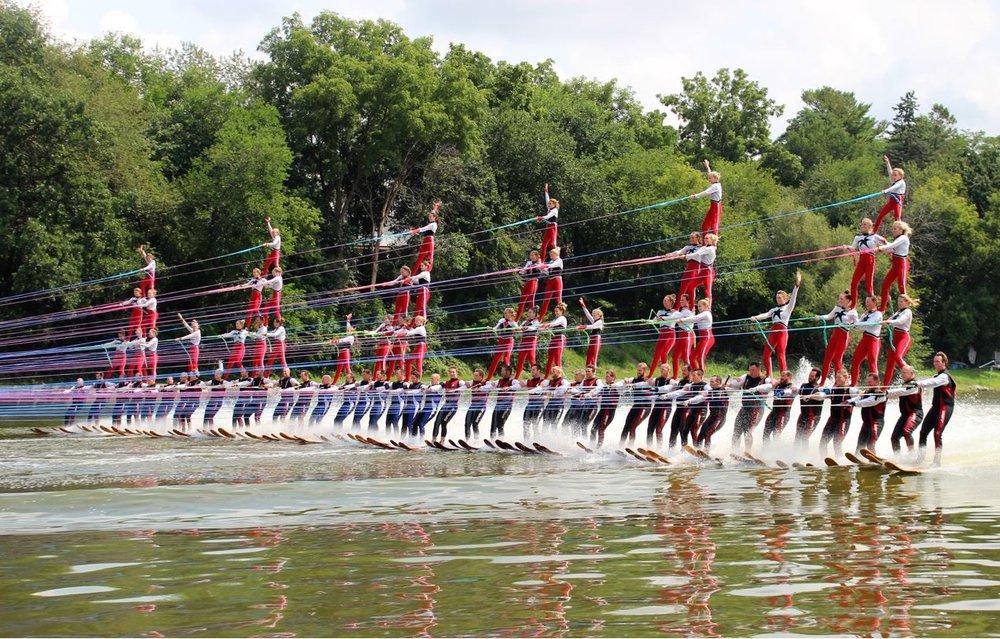 Guinness World Record waterski pyramid