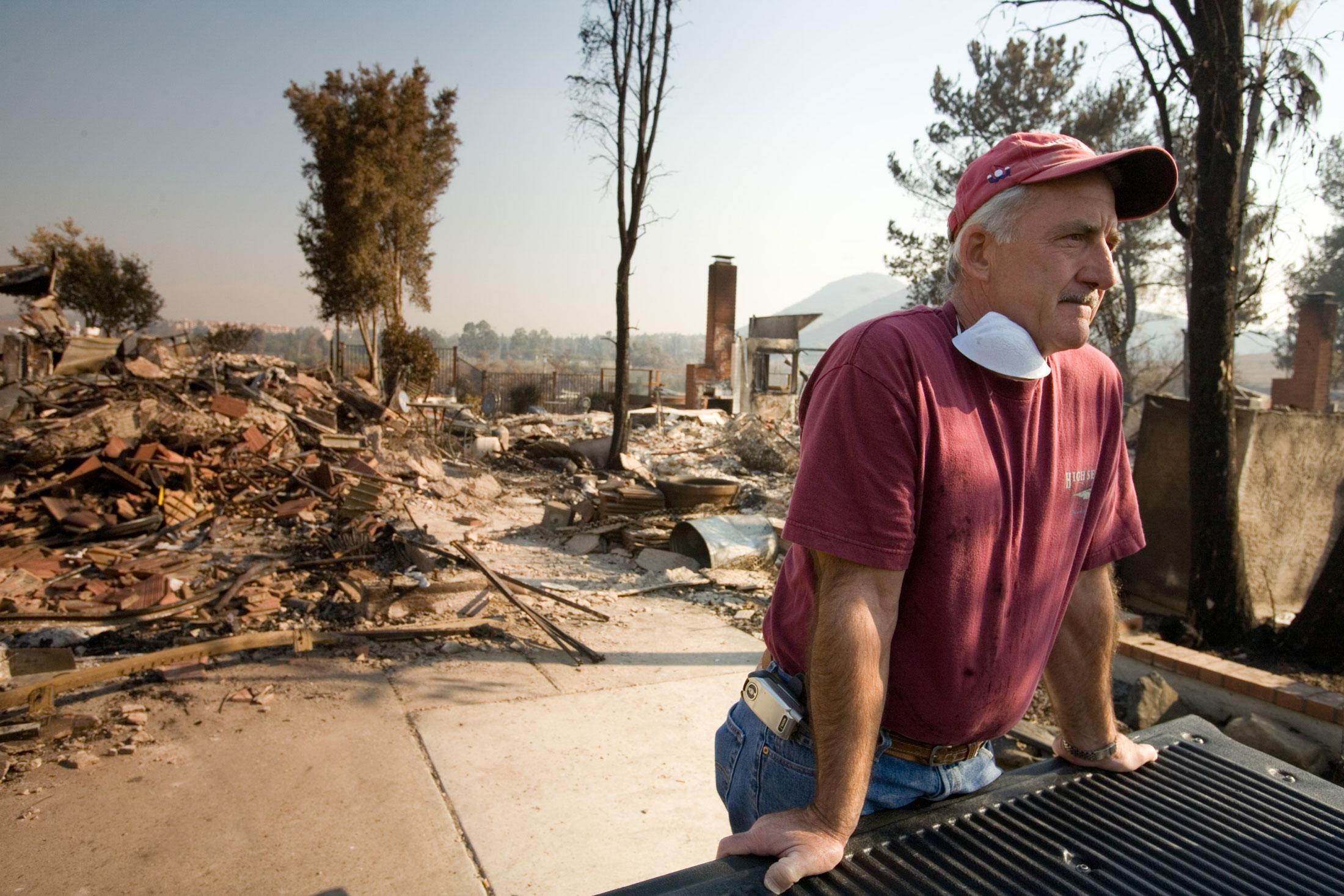 2007 California wildfire damage