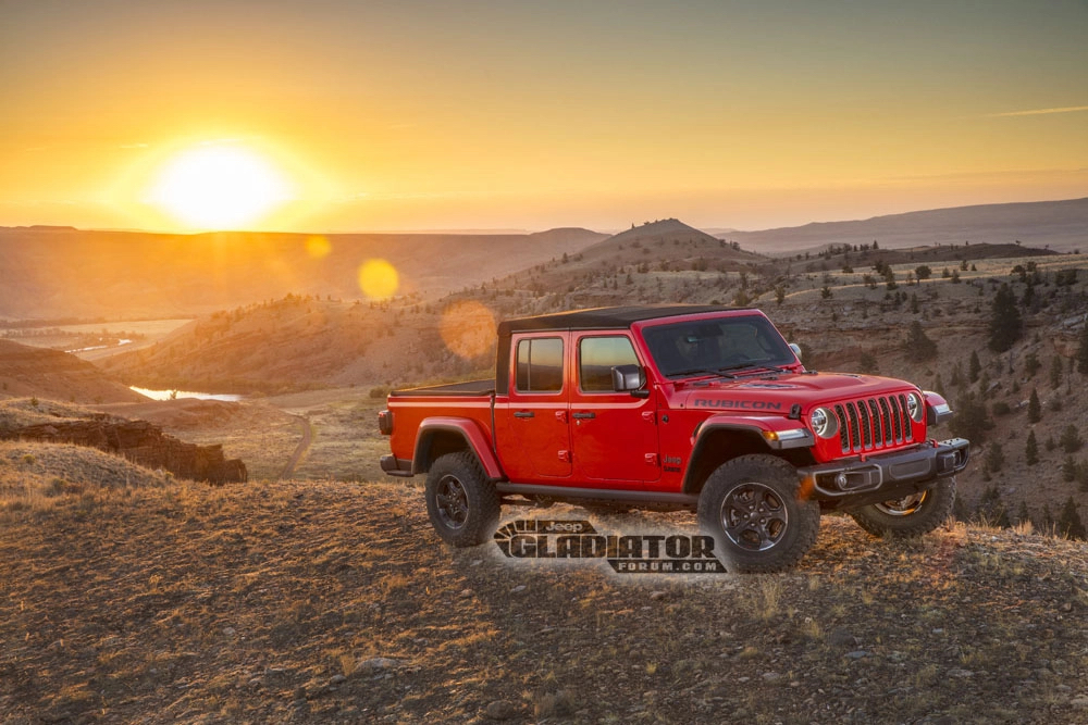 Jeep Gladiator Forum front 3/4 hill sunset