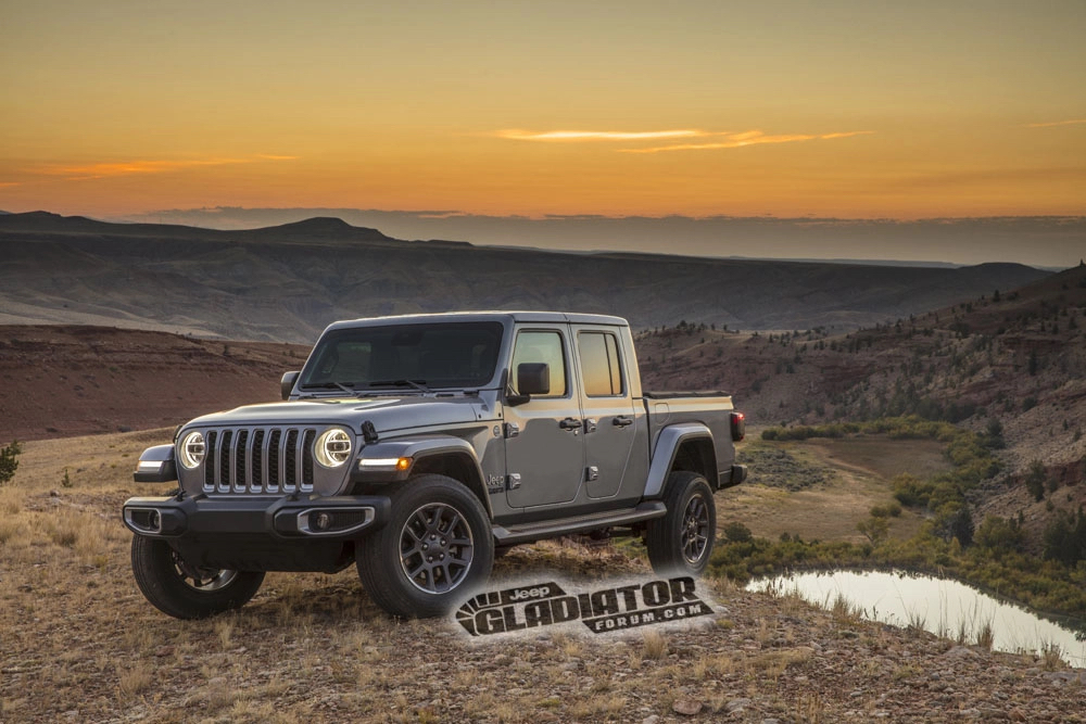 Jeep Gladiator Forum gray 3/4 front hill