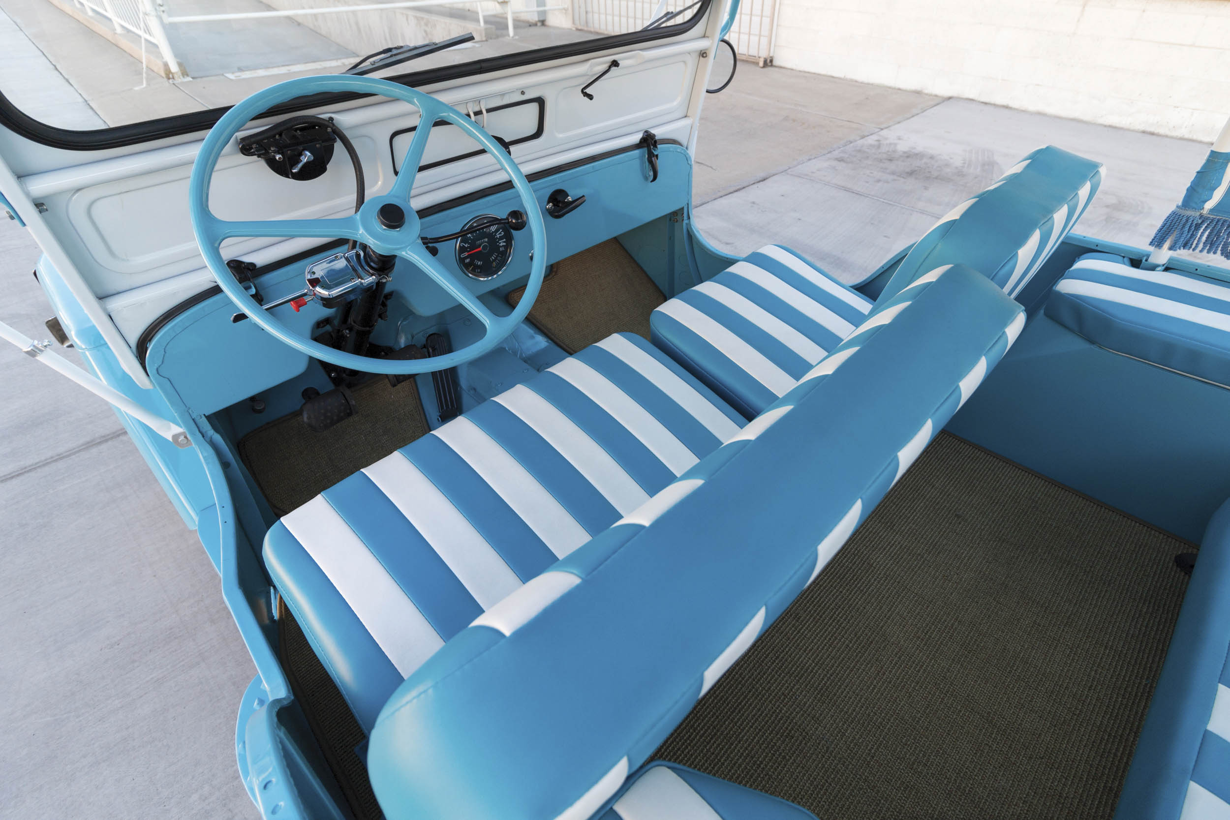 1960 Willys Jeep Gala Runabout interior