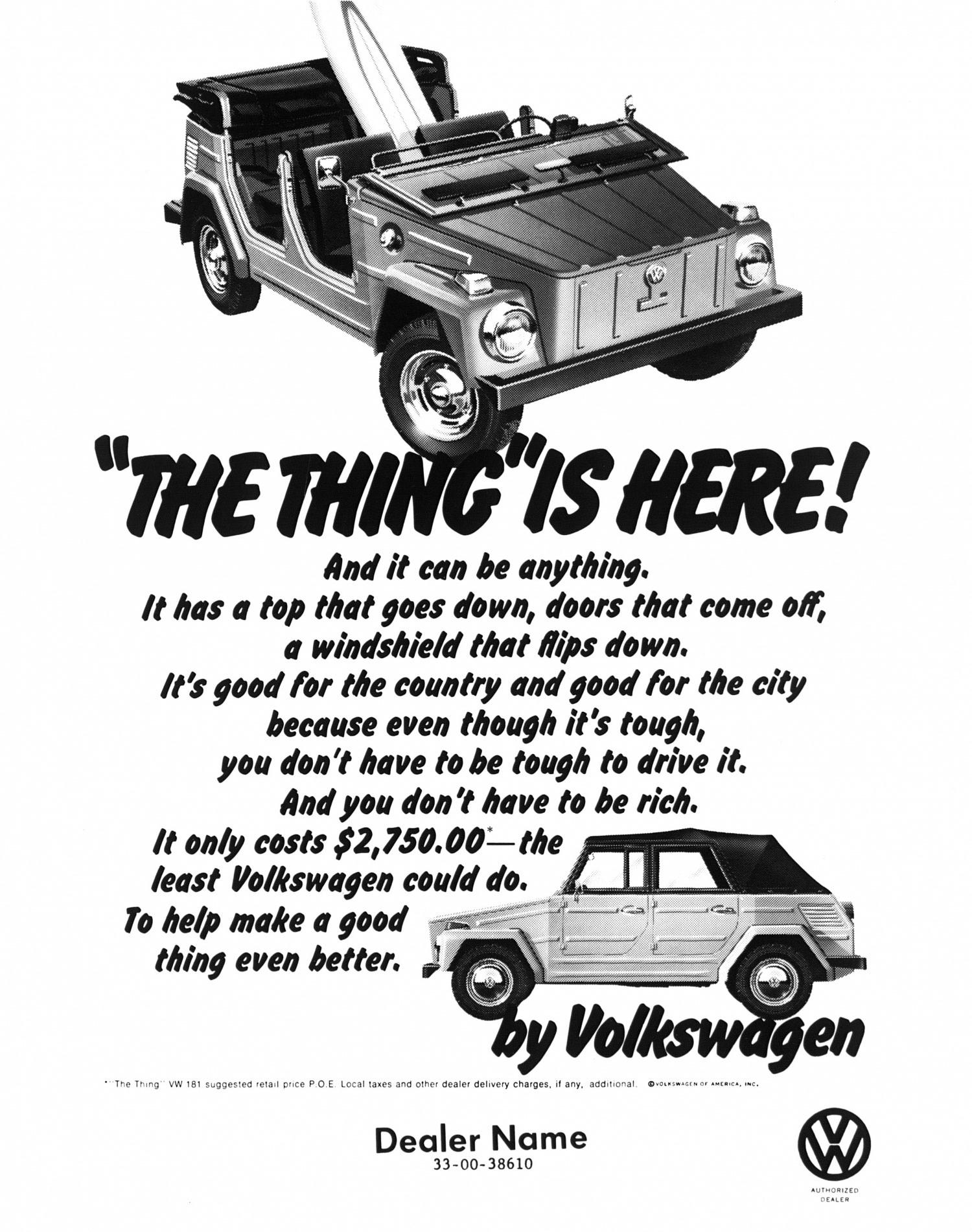 1973 Volkswagen Thing advertisement