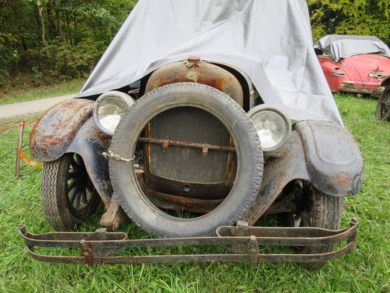 1927 Chrysler Imperial 4 door barn collapse