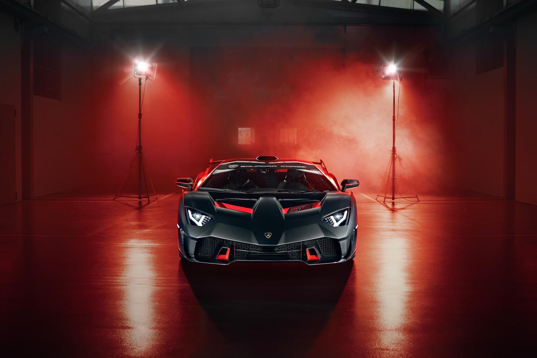 Lamborghini SC18 front view lights fog red