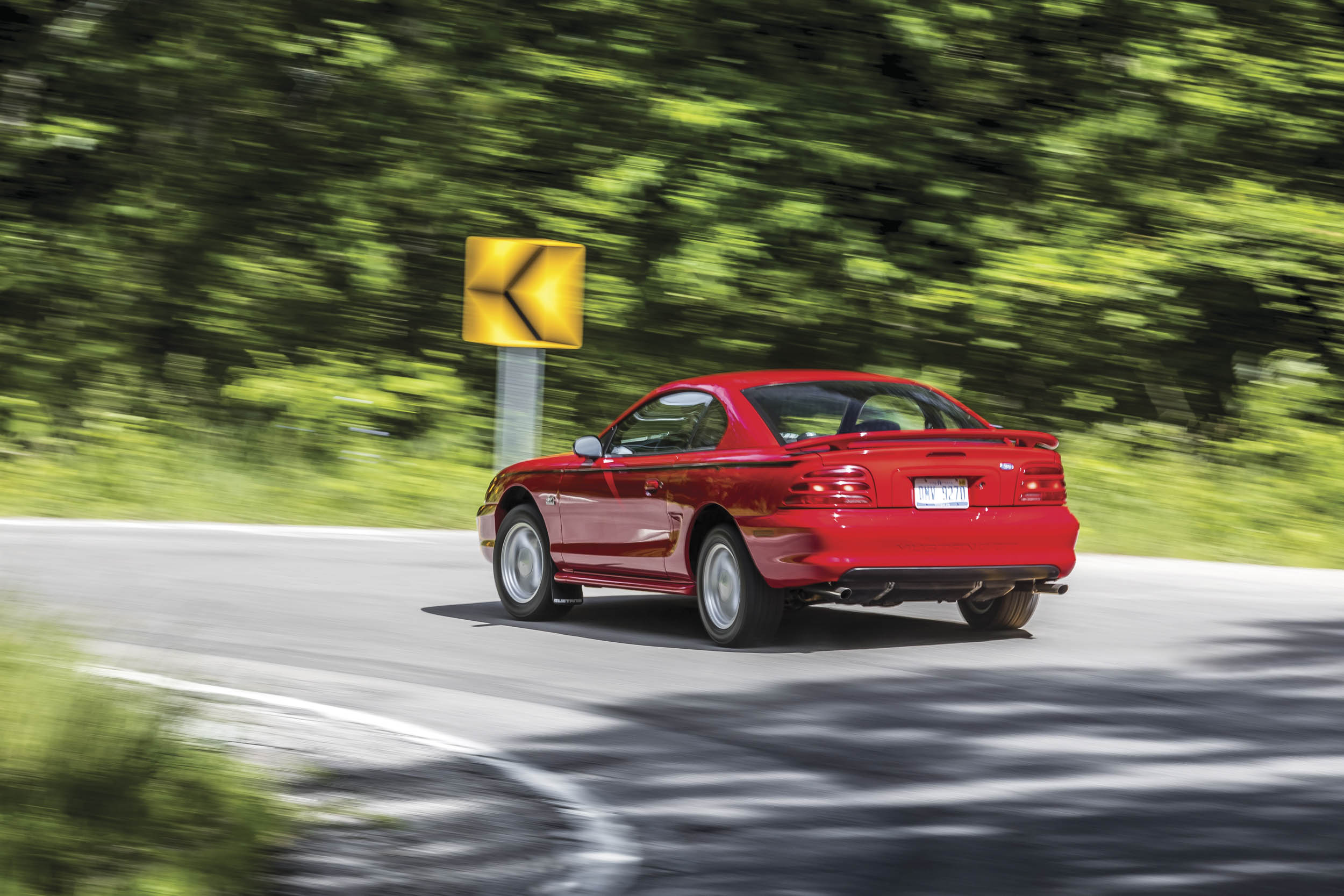 The fourthgeneration Mustang is blessed with a stiff structure and suspension geometry that resists body roll, and grip from the BFGoodrich tires is plentiful.