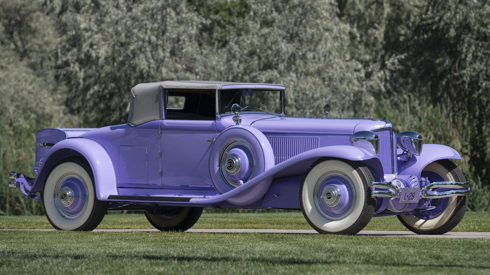 1930 Cord L-29 Cabriolet purple