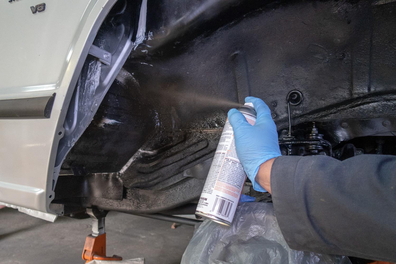 rust prevention rubbery spray