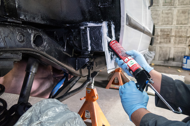 rust prevention caulk seams