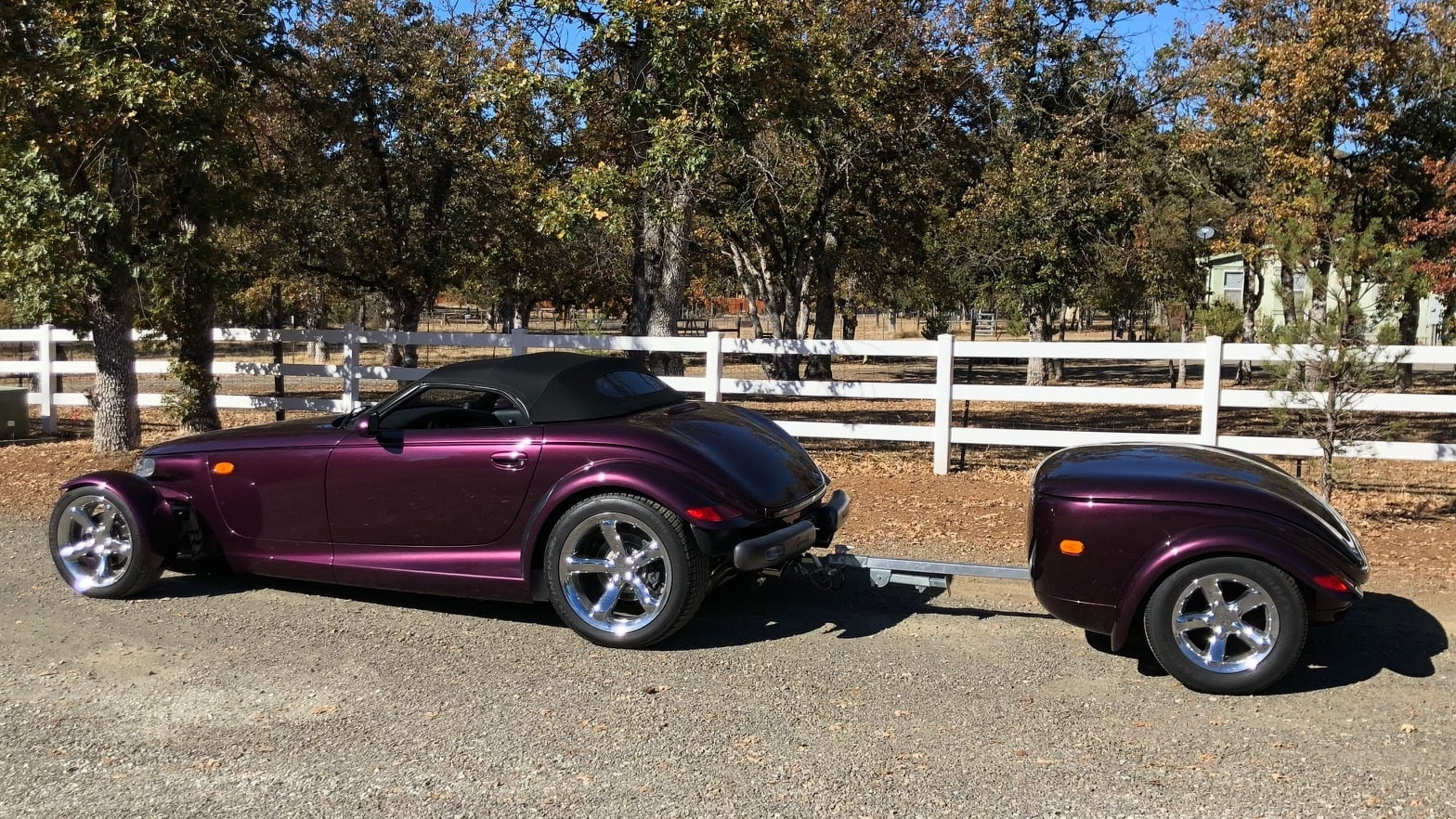 1999 Plymouth Prowler side with trailer