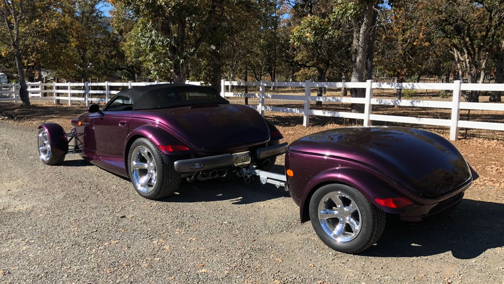 1999 Plymouth Prowler rear with trailer