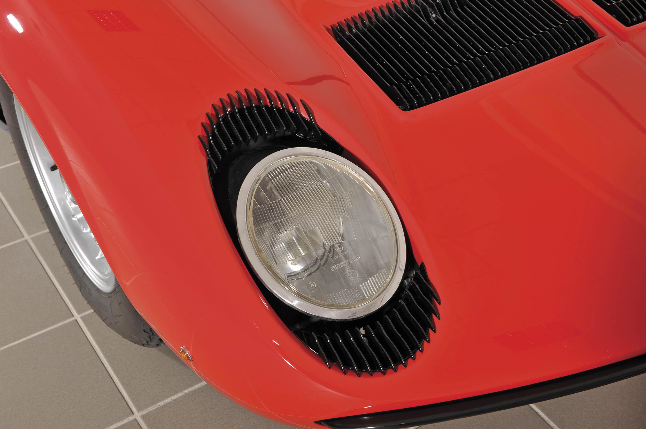 1967 Lamborghini Miura P400 headlight detail