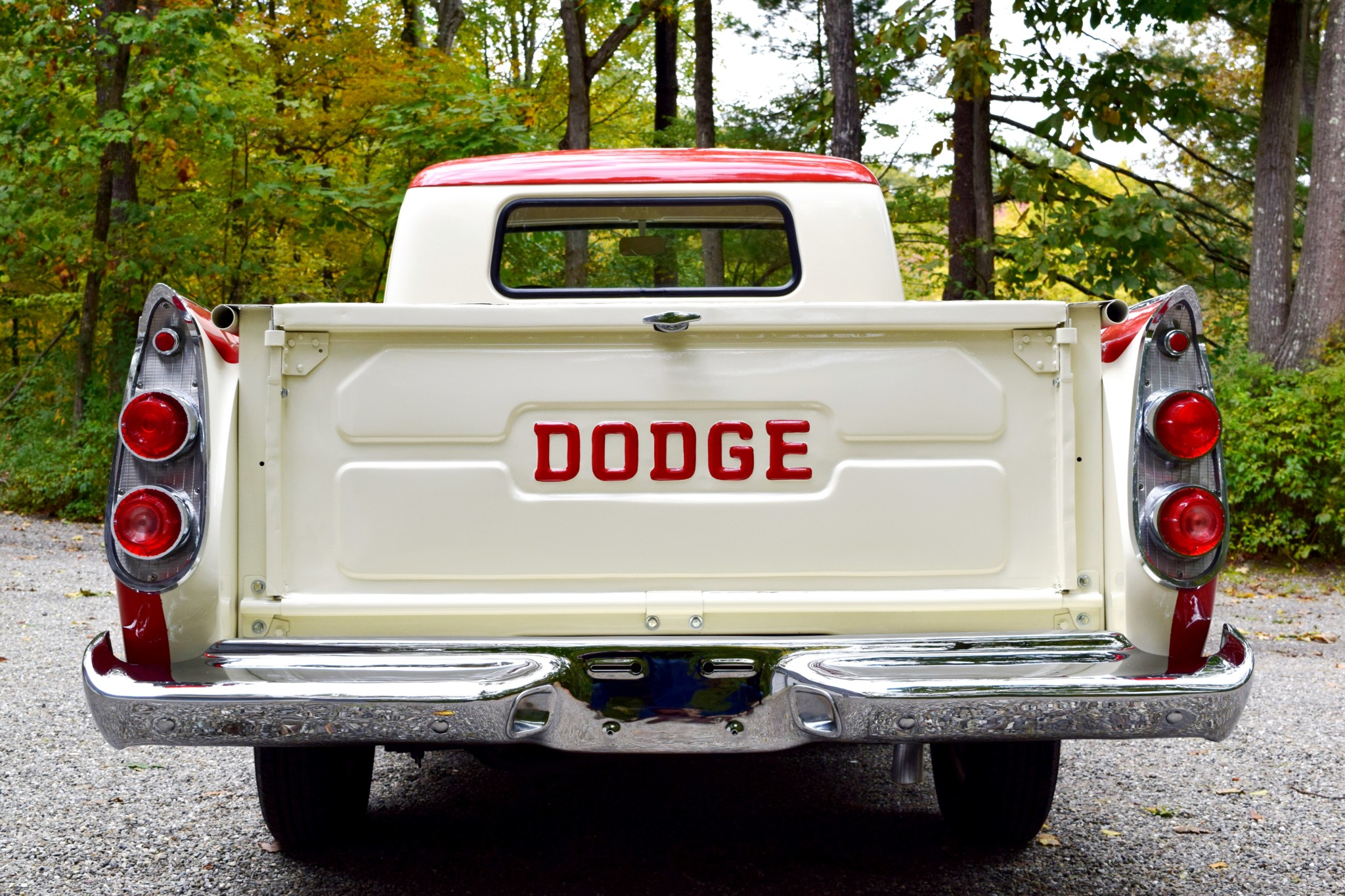 1957 Dodge D100 Sweptside tailgate
