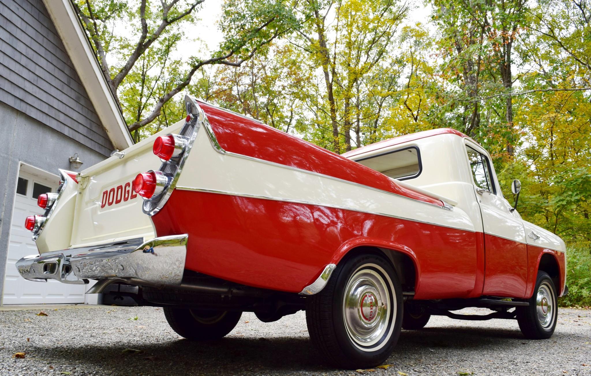 1957 Dodge D100 Sweptside low 3/4 rear