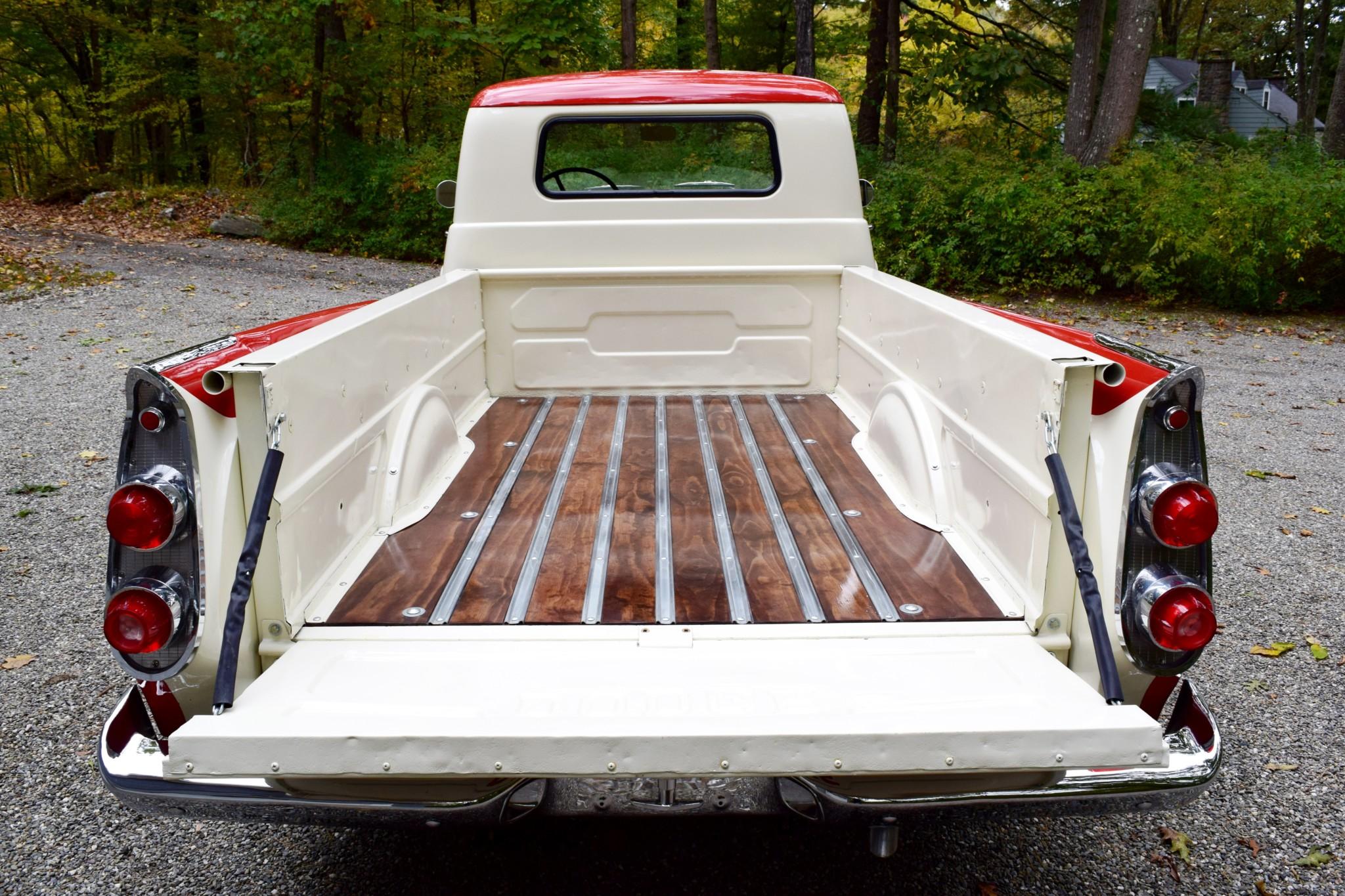 1957 Dodge D100 Sweptside pickup bed