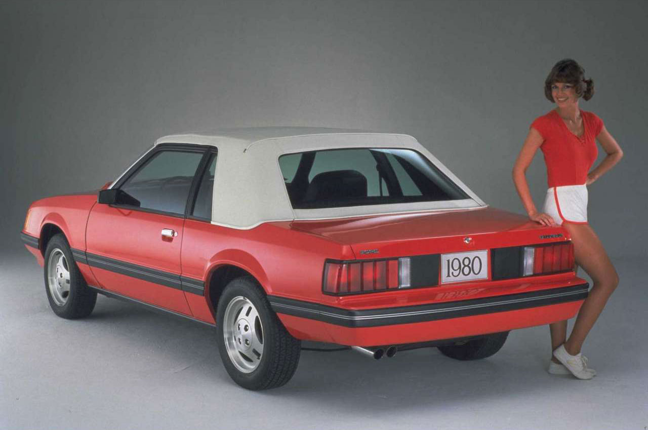 1980 Ford Mustang rear 3/4