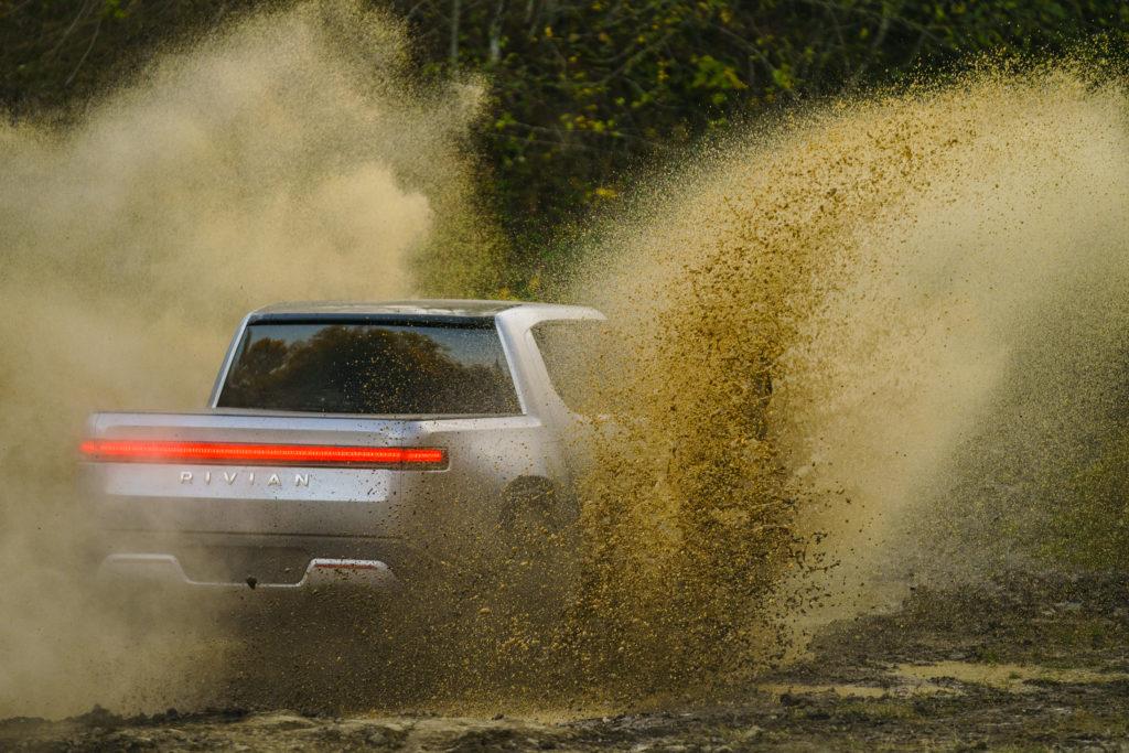 Rivian R1T Concept mud splash