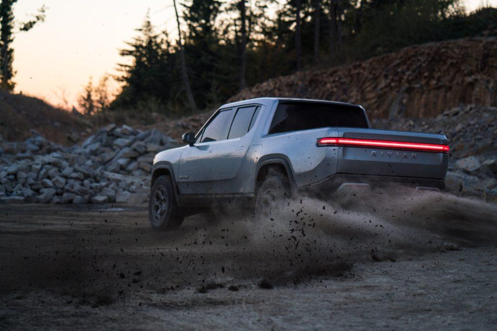 Rivian R1T Concept off road drift