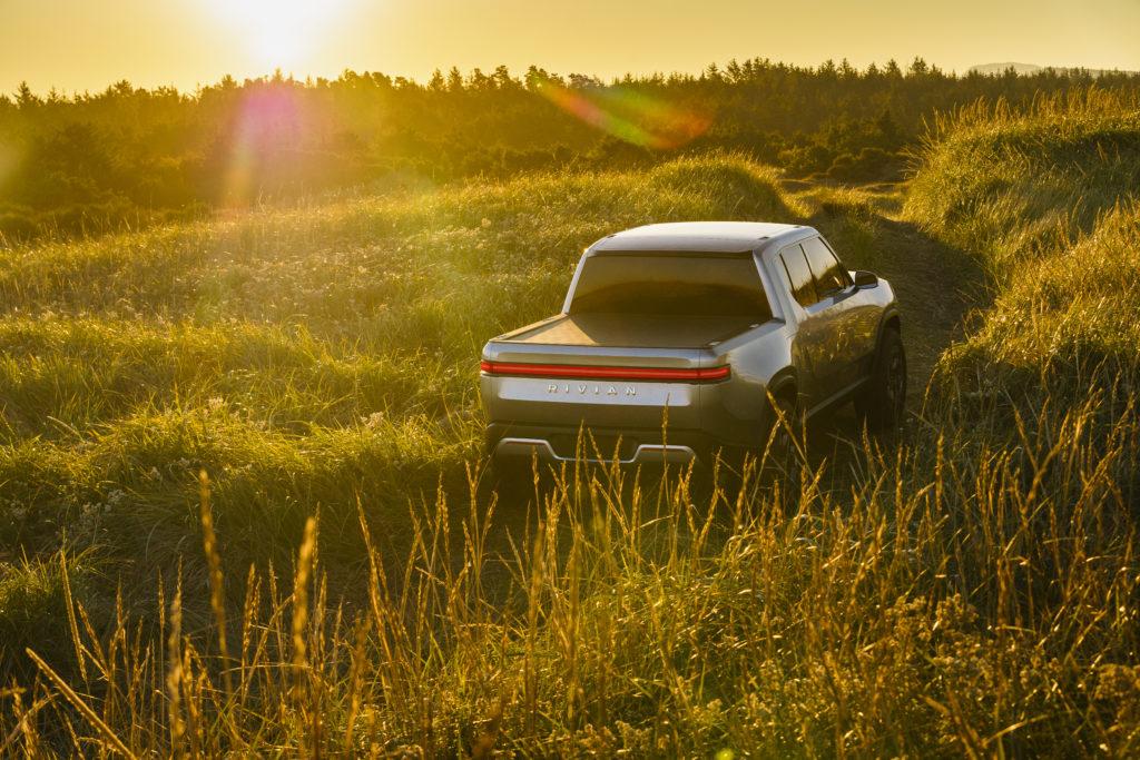 Rivian R1T Concept off road tall grass