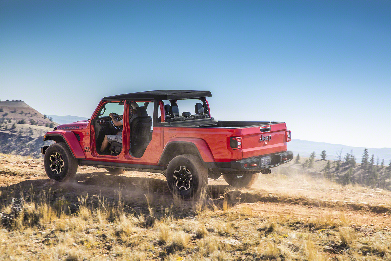 2020 Jeep Gladiator off road doors off