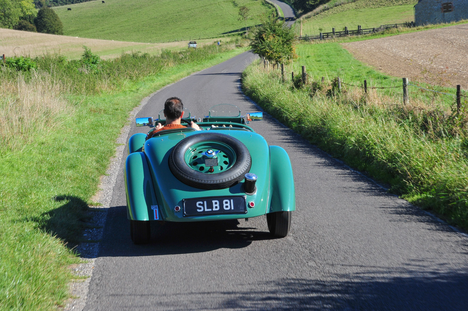 BMW 328 on road right hand bend