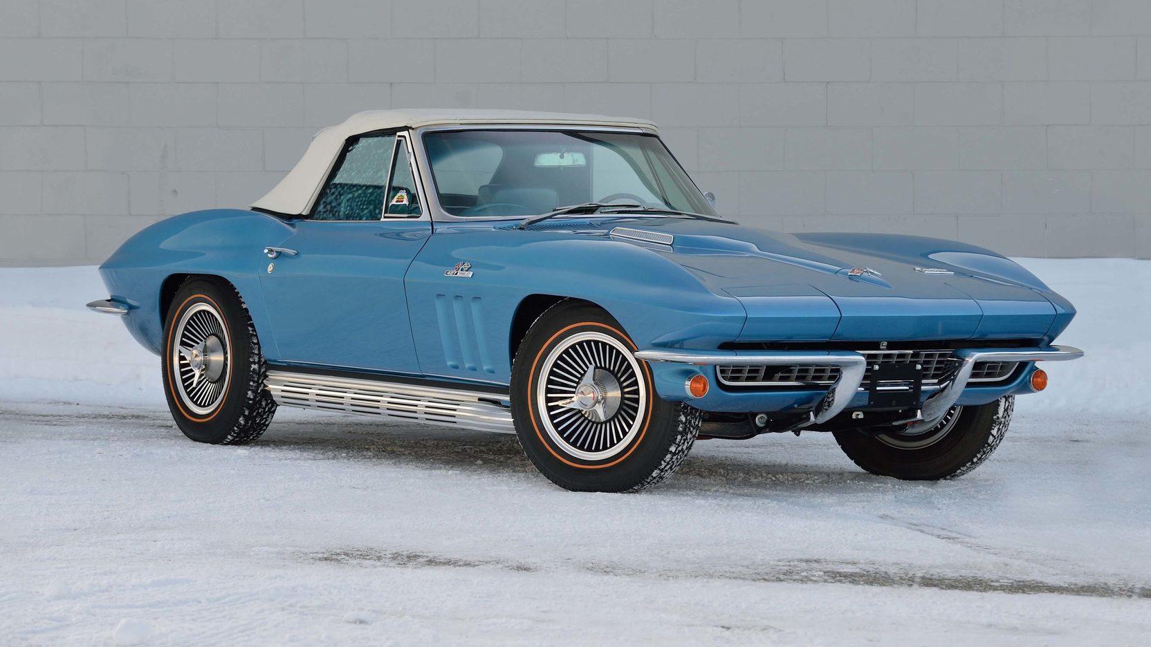1966 Chevrolet Corvette 3/4 front snow