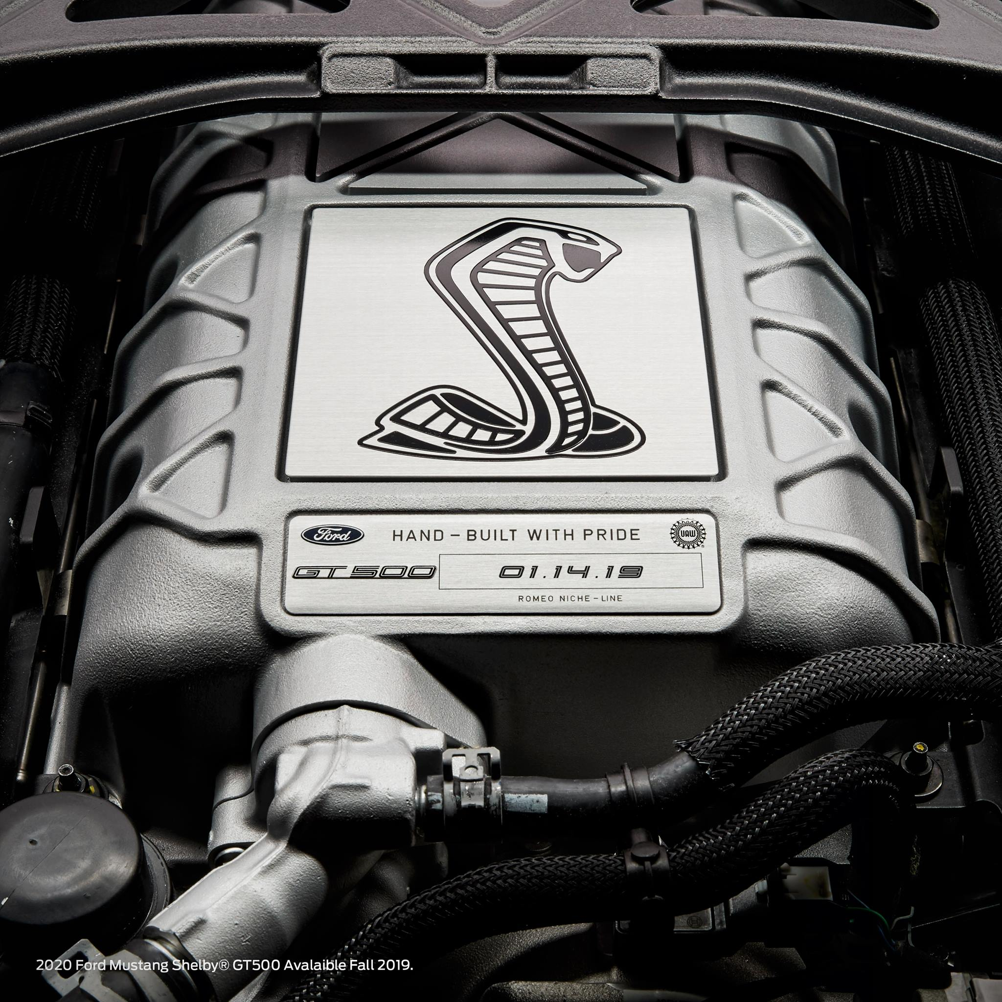 Shelby GT500 engine supercharger