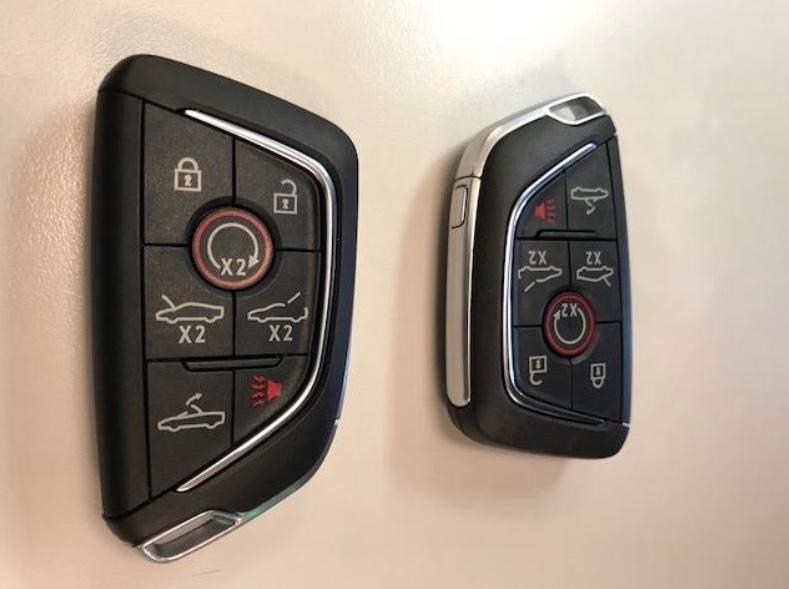 Mid engine corvette key fob buttons