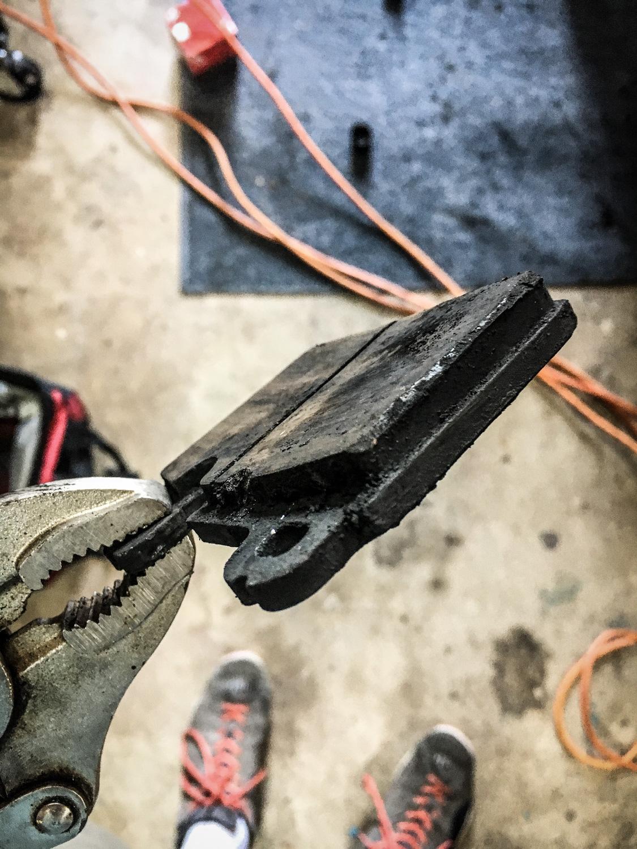 Brake pad removed porsche