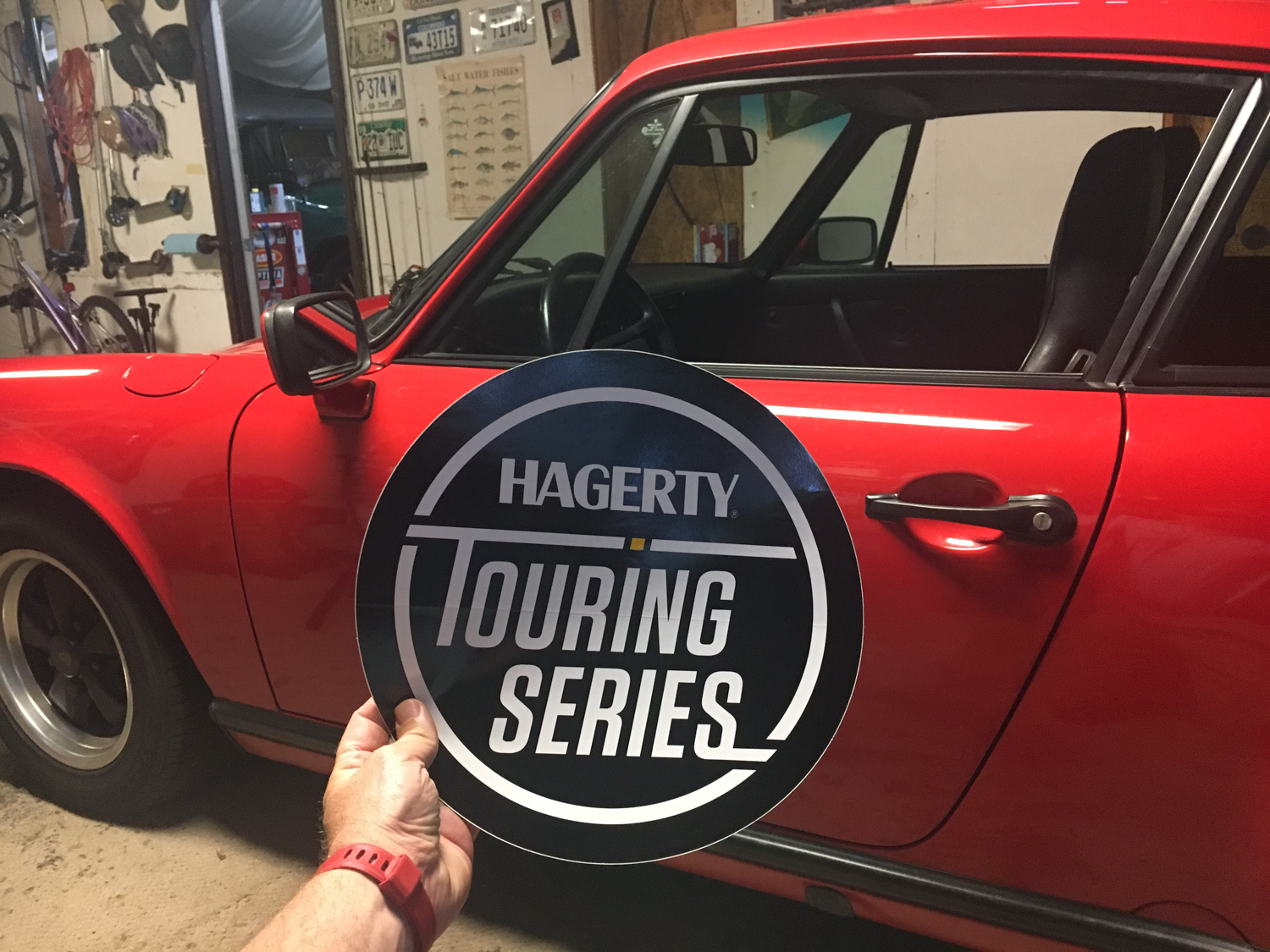 Porsche 911 hagerty touring series road trip sticker