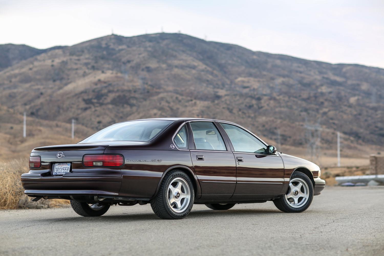 1996 Chevrolet Impala SS rear 3/4 mountain