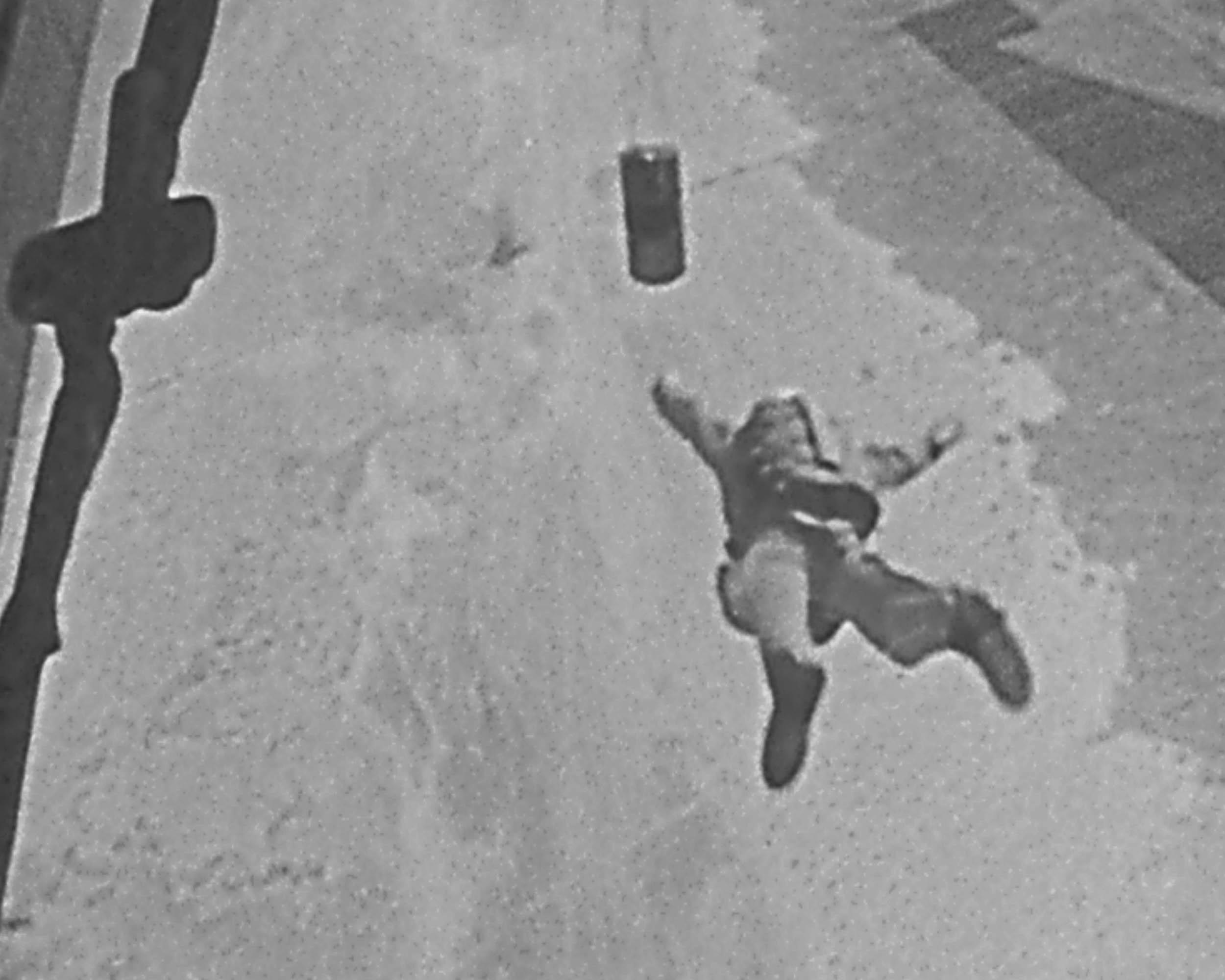 parachuting carjumper following