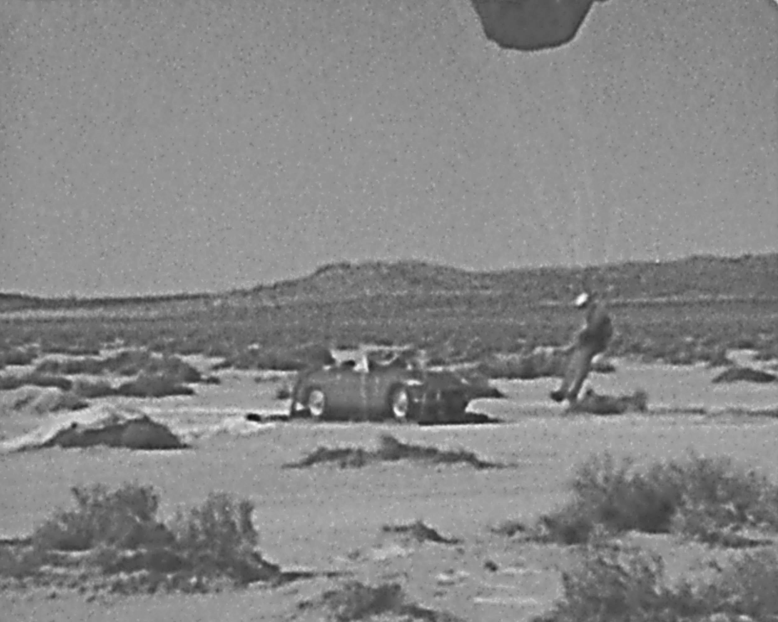 parachuting car