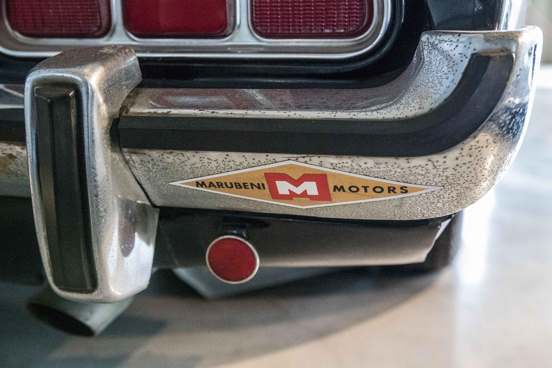 "1973 Ford Mustang ""Tochigi police car"" bumper sticker"
