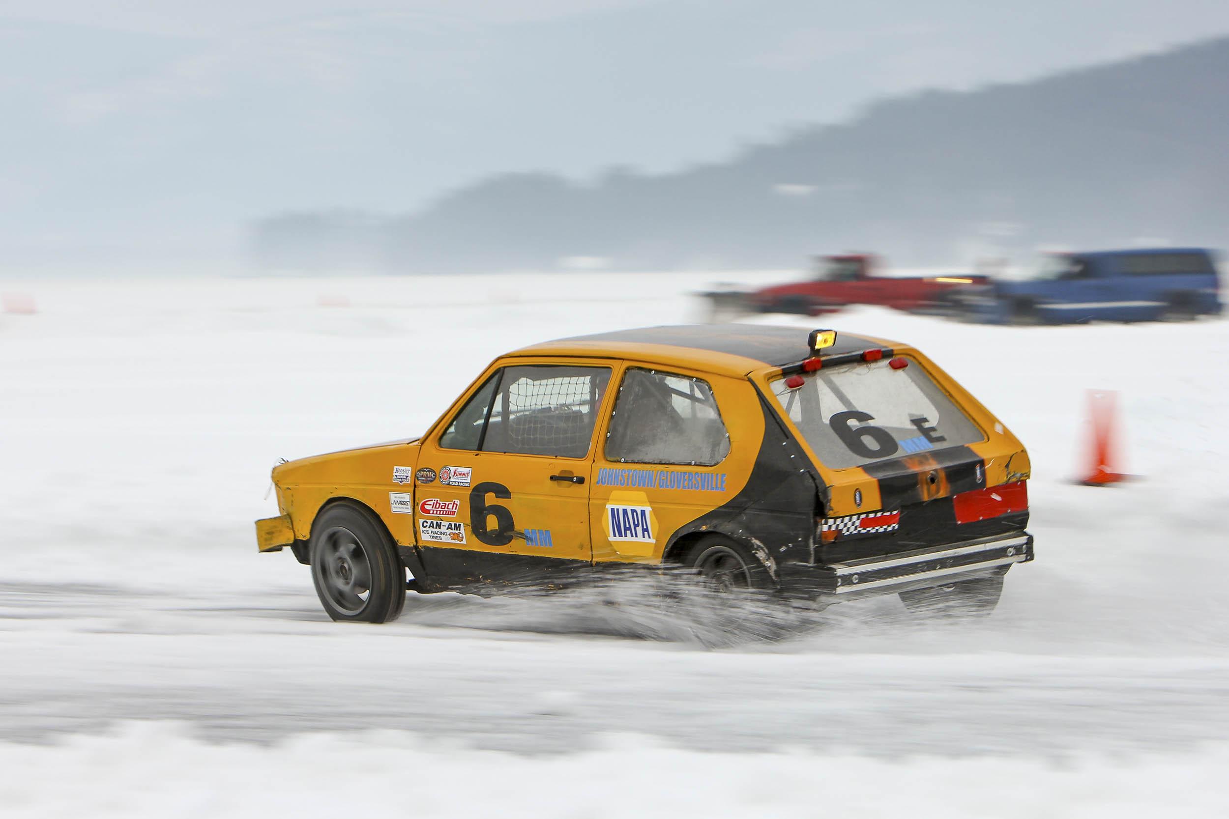 Johnstown/Gloversville ice race car