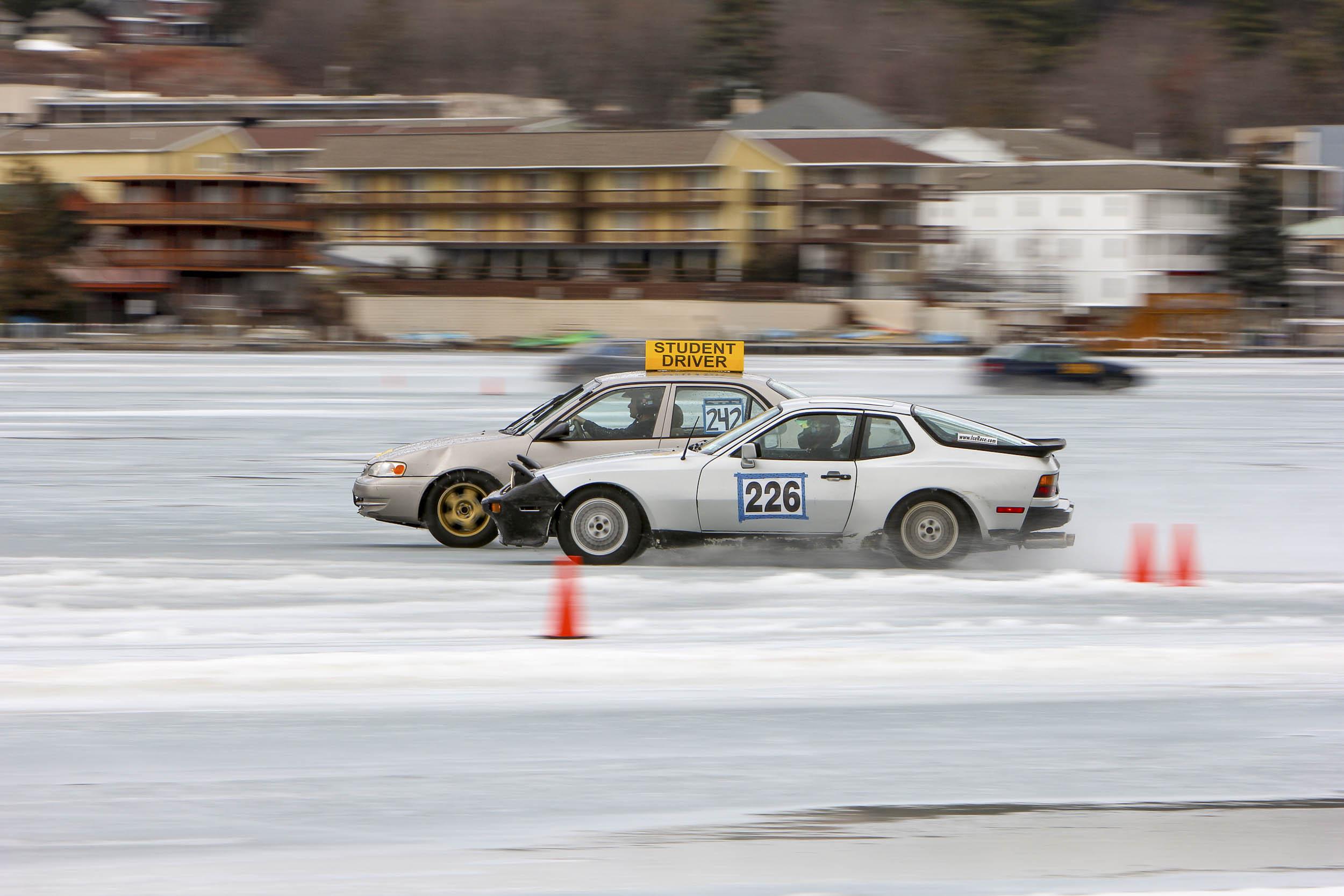 Student Driver ice racing