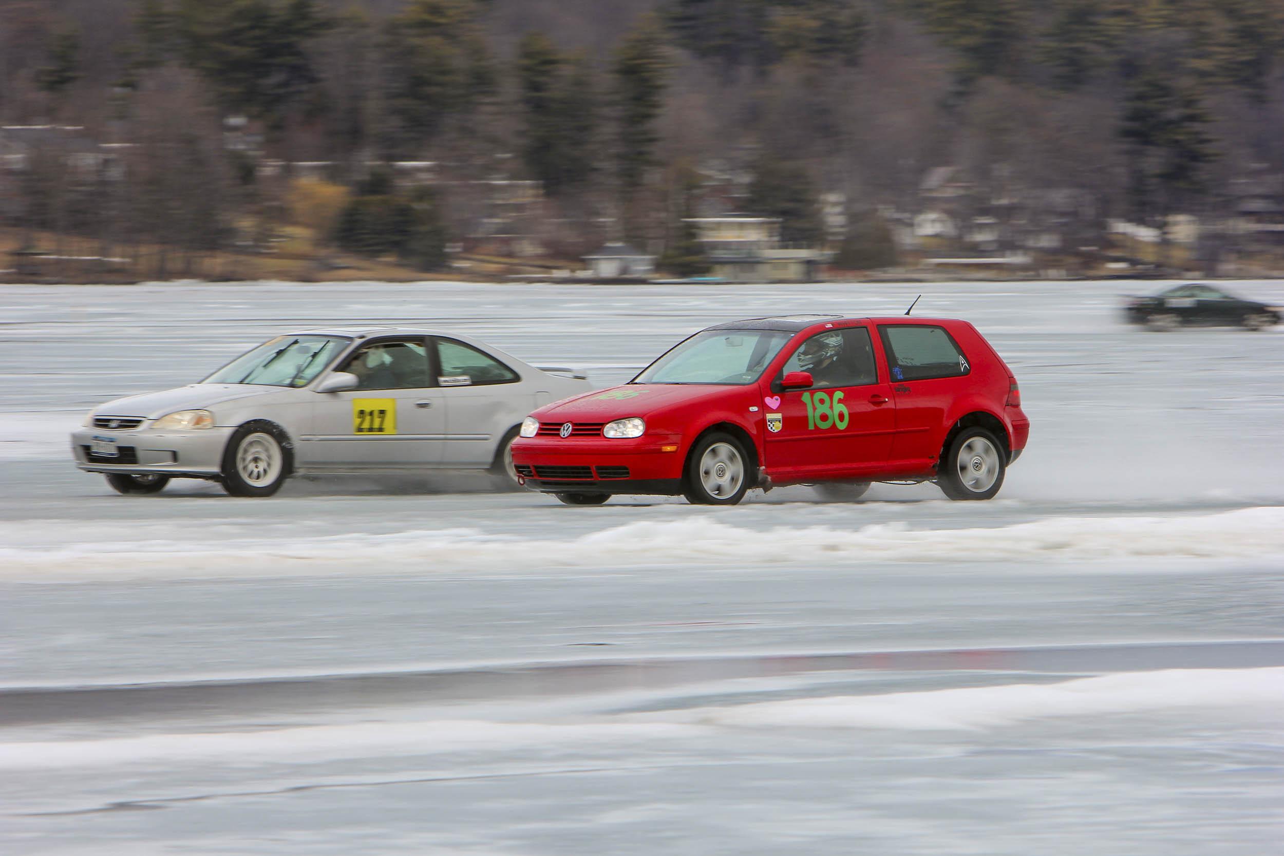 drag racing on ice
