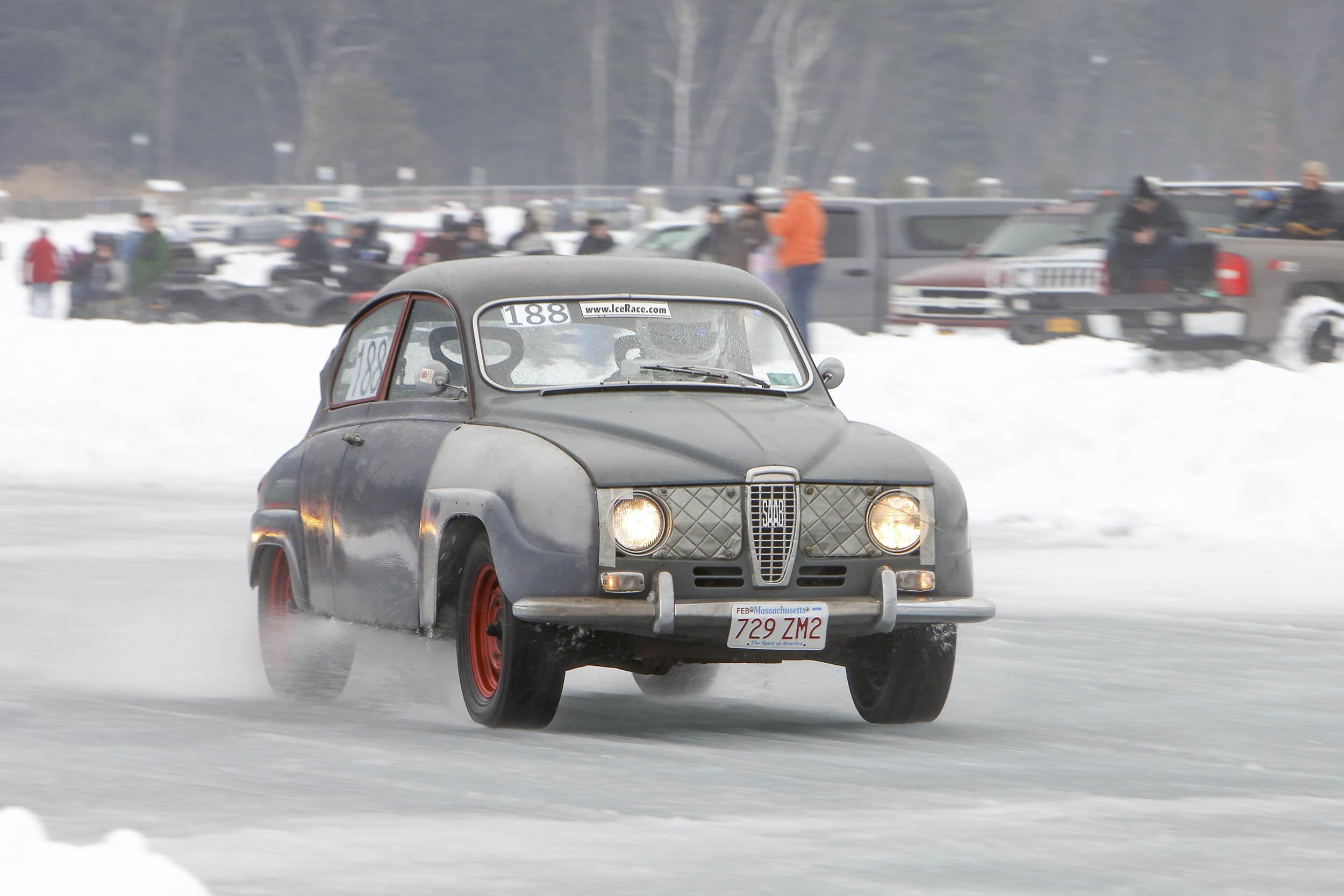 Saab ice racing