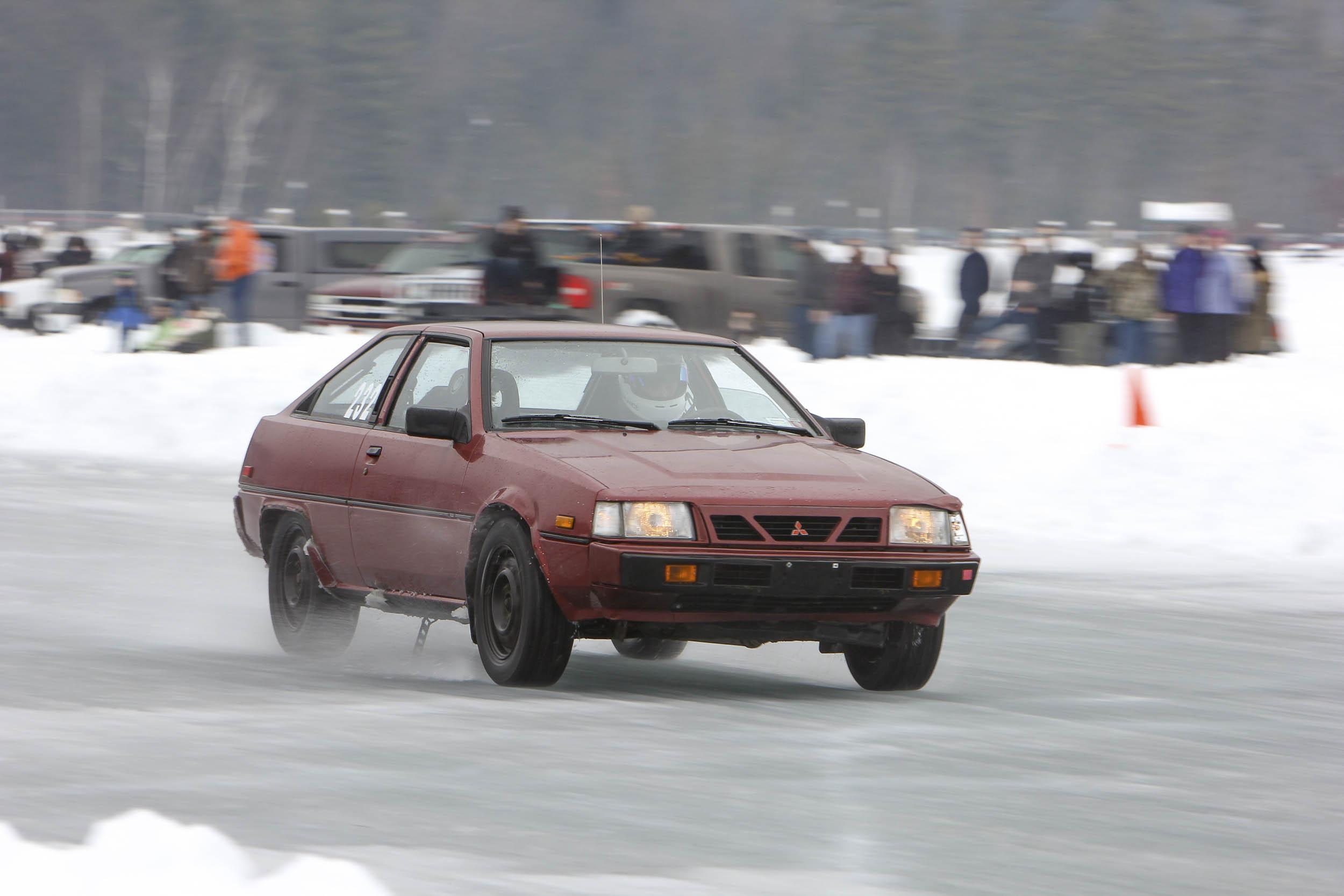 Mitsubishi ice racing
