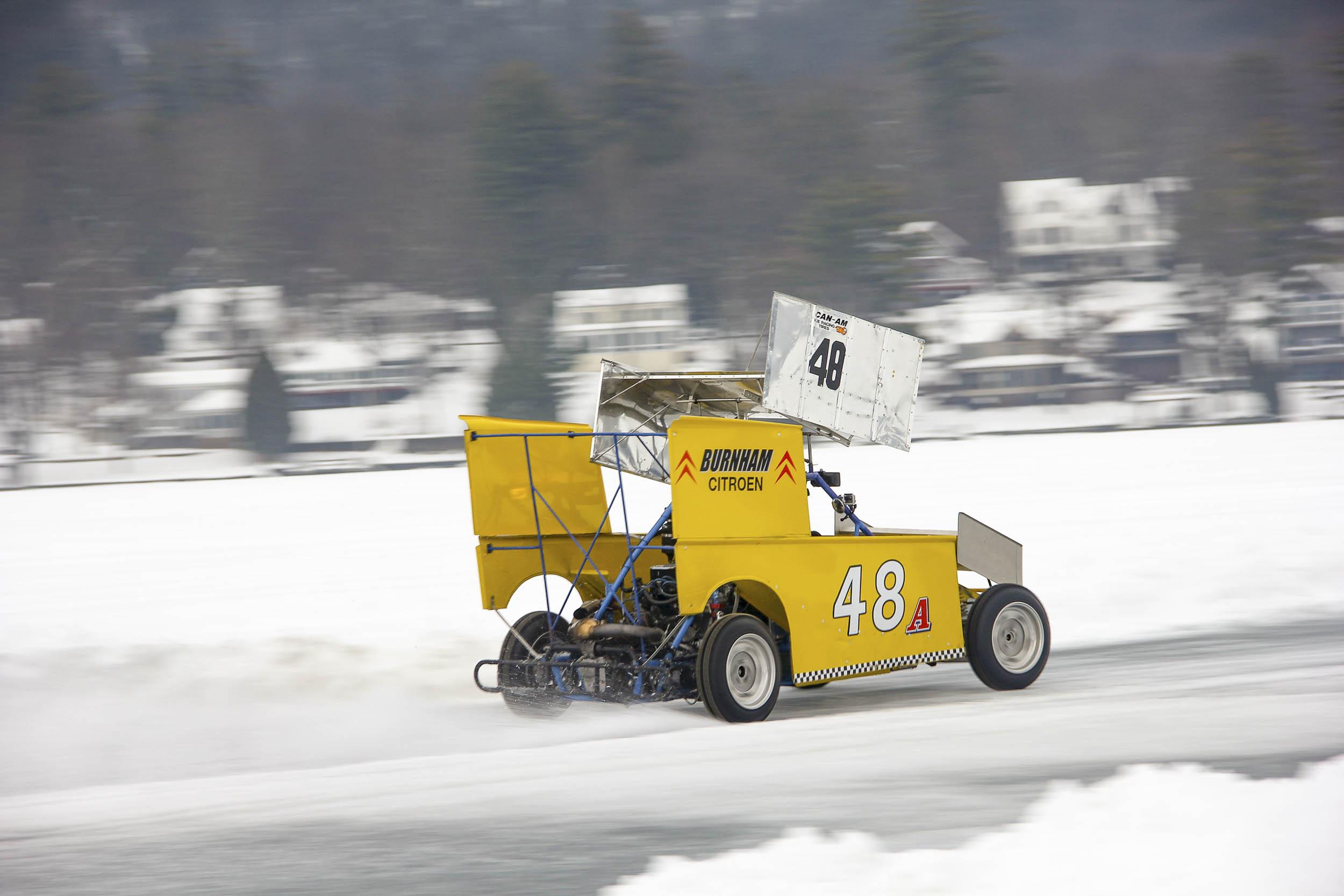 wing car ice racing
