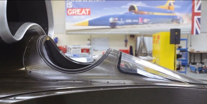 Bloodhound SSC cockpit from side
