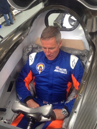driver Andy Green moulding the seat