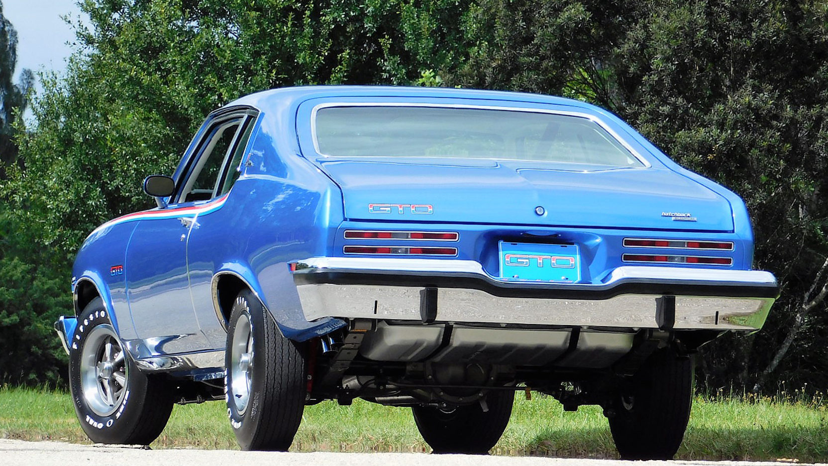 1974 Pontiac GTO rear 3/4