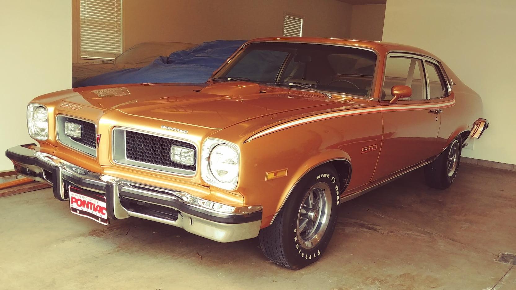 Orange 1974 Pontiac GTO