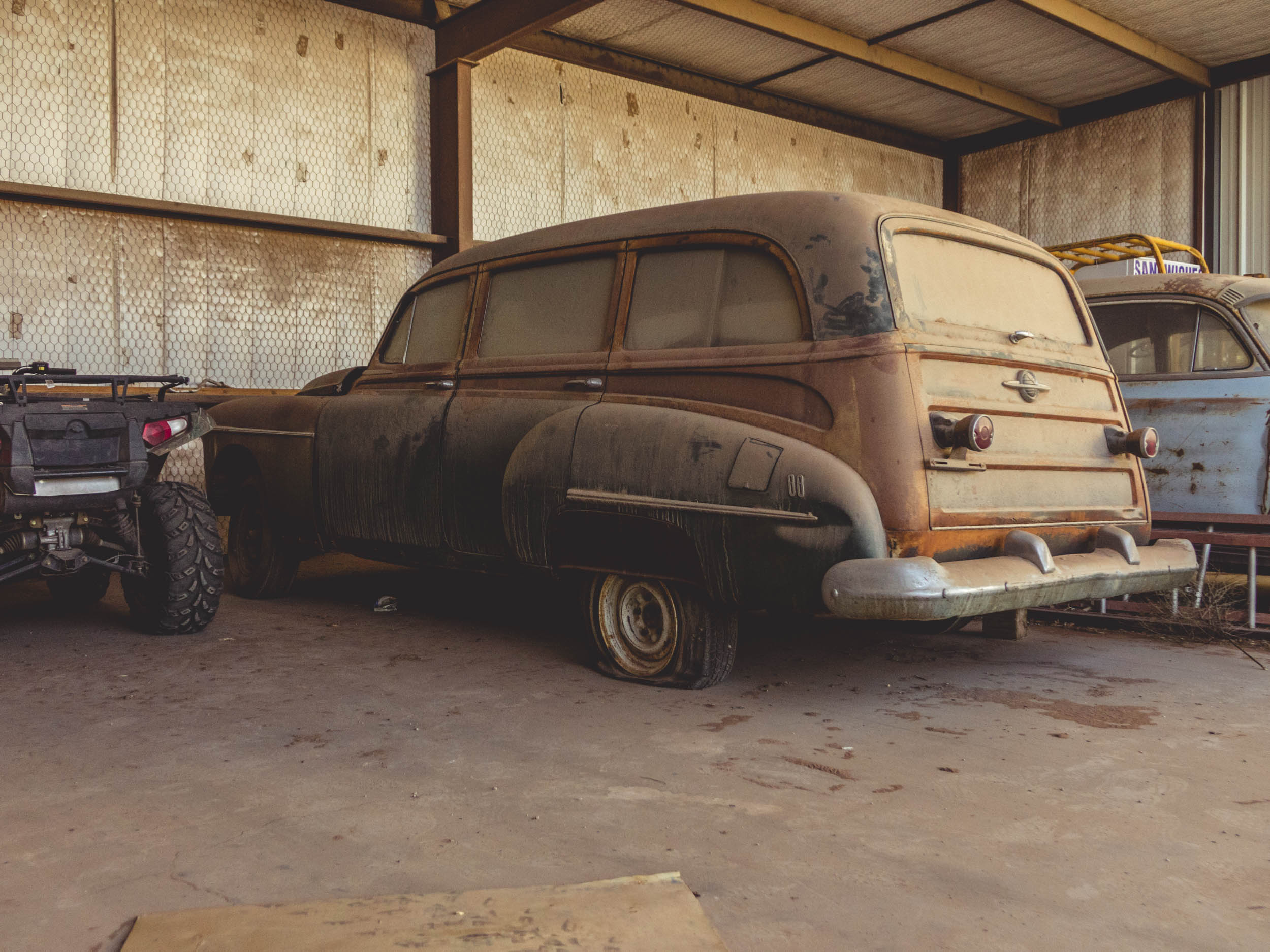 Oldsmobile 88 rear 3/4